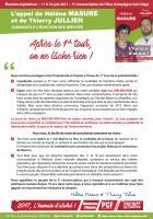 Tract « L'appel de Hélène Masure et Thierry Jullien :