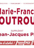 Bulletin de vote « Marie-France Boutroue et Jean-Jacques Pik (suppléant) » - 7e circonscription de l'Oise, 11 juin 2017