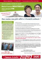 Profession de foi de Marie-France Boutroue et Jean-Jacques Pik - 7e circonscription de l'Oise, 11 juin 2017