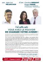 Tract « Avec Jean-Luc Mélenchon et avec Caroline Brebant et Roger Pierre, par votre vote, vous avez le pouvoir de changer votre avenir » - 4e circonscription de l'Oise, 7 avril 2017