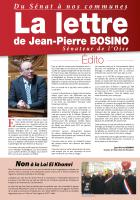 La Lettre de Jean-Pierre Bosino, sénateur de l'Oise - Septembre 2016