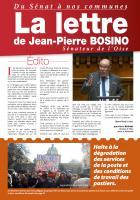 La lettre de Jean-Pierre Bosino, sénateur de l'Oise - Janvier 2017