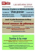 L'Écho du canton de Mouy « Les Estivales 2016 » - Sections PCF de Bresles et de Mouy, juillet 2016