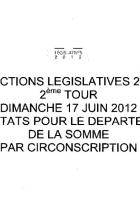 Législatives 2012-Somme-Résultats du 2nd tour-Par circonscription