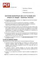 Municipales 2014 • Comptes de campagne, mandataires financiers
