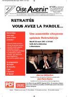 Oise Avenir n° 1278 - 9 mars 2012 - Spécial Retraité-e-s