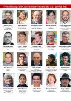 Trombinoscope du Conseil départemental du PCF Oise, élu le 27 janvier 2013