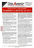 Oise Avenir n° 1319 du 9 décembre 2015