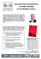 Oise Avenir n° 1332 du 16 février 2017 - Encart « Des député-e-s au service de l'intérêt général et du progrès social ! »