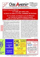 Oise Avenir n° 1334 du 27 avril 2017