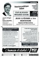 Flyer « Réunion publique-débat avec Fabien Roussel » - PCF Oise, 15 février 2018