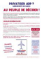 Encart - Tract-Pétition « Privatiser ADP ? Au peuple de décider » - Oise Avenir n° 1355, 2 septembre 2019