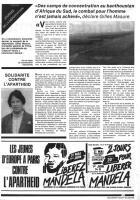 Oise Avenir n° 458 - 1er mai 1986 - Page 3 - Solidarité contre l'apartheid