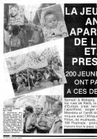 Oise Avenir n° 463 - 5 juin 1986 - Pages 4 & 5 - La jeunesse anti-apartheid de l'Oise était présente