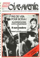 Oise Avenir n° 481 - 30 octobre 1986 - La Une - Pas de visa pour Botha