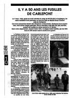 Il y a 50 ans les fusillés de Carlepont - Oise Avenir n° 746 du 12 au 18 mars 1992