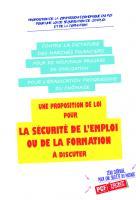 Proposition pour une loi de sécurisation de l'emploi et de la formation - Commission économique du PCF, mai 2016
