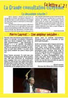 La Grande consultation citoyenne - La Lettre n° 2 - Juin 2016