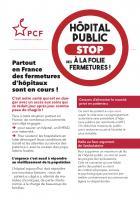 Flyer « Hôpital public : stop à la folie des fermetures ! » - PCF, 14 novembre 2019