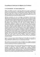 Une politique de santé pour les régions et les territoires - Document de travail de la Commission Santé-Protection sociale du PCF pour les Régionales 2015
