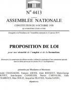 Proposition de loi emploi formation