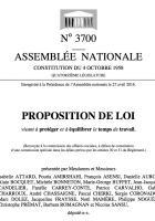 Proposition de loi visant à protéger et à équilibrer le temps de travail - Assemblée nationale, 27 avril 2016