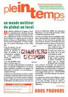 Plein Temps - Février 2015 - Un monde meilleur du local au global !