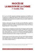 Procès de la Maison de la Chimie - 7 au 14 avril 1942