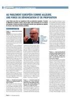 Jacky Hénin « Au Parlement européen comme ailleurs, une force de dénonciation et de proposition » - Progressistes n° 4, avril-mai-juin 2014