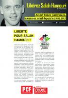 Tract « Libérez Salah Hamouri » - PCF, 21 octobre 2017