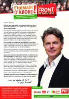Circulaire de la liste Front de gauche l'Humain d'abord - Élection régionale Nord-Pas-de-Calais-Picardie, novembre 2015