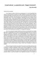Rapport introductif de Pierre Dharréville - Conseil national du PCF, 24 & 25 septembre 2016