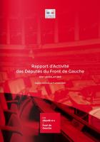 Rapport d'activité des député-e-s Front de gauche 2012-2016