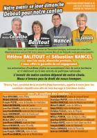 Appel de Patrice Carvalho pour le second tour des élections départementales - OSEC60, canton de Thourotte, 23 mars 2015