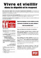 Tract « Vivre et vieillir dans la dignité et le respect » - PCF, 30 janvier 2018