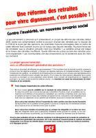 Tract « Une réforme des retraites pour vivre dignement, c'est possible ! » - PCF, septembre 2018