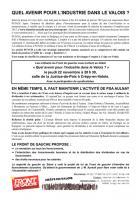 22 novembre, Crépy-en-Valois - Débat « Quel avenir pour l'industrie dans le Valois ? »