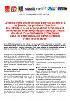 #VotationTravail : tract de l'intersyndicale