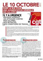 Tract « Dans la rue le 10 octobre 2017 » - Fédération CGT des Services publics