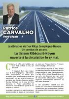 Tract « La liaison Ribécourt-Noyon ouverte le 17 mai » - 6e circonscription de l'Oise, 12 mai 2017