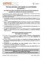 30 mars, Creil - Lutece-Mobilisation pour le retour à un service public TER et Intercités digne de ce nom