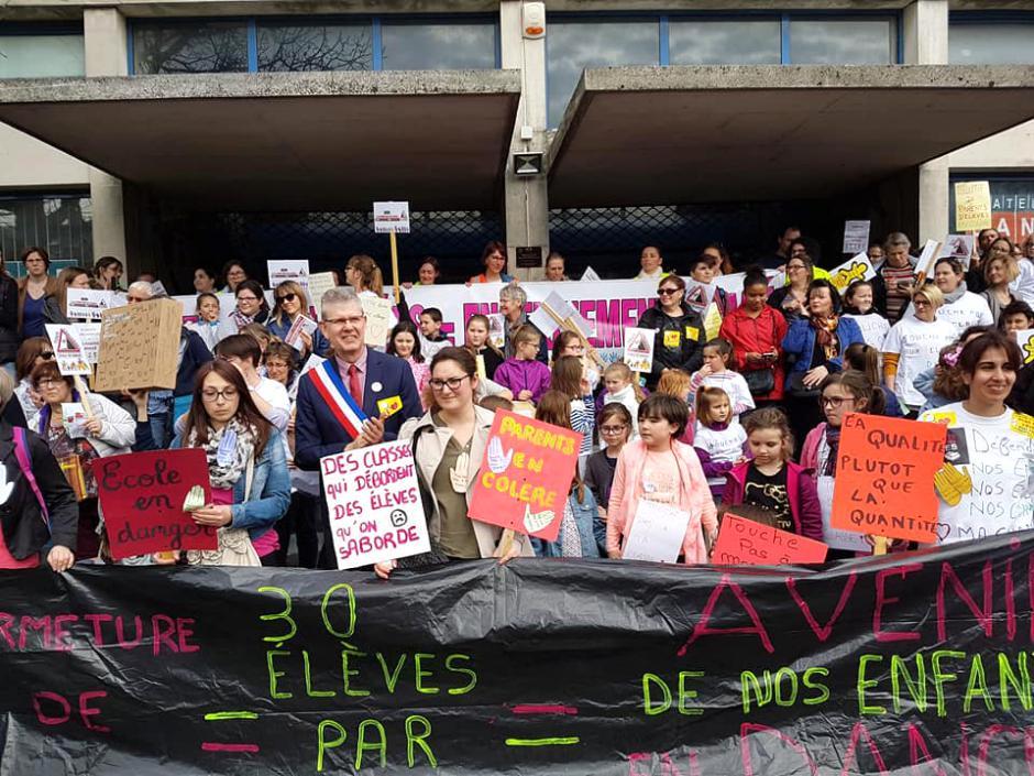 « Stop au bourrage de classes ! » - Beauvais, 7 avril 2018