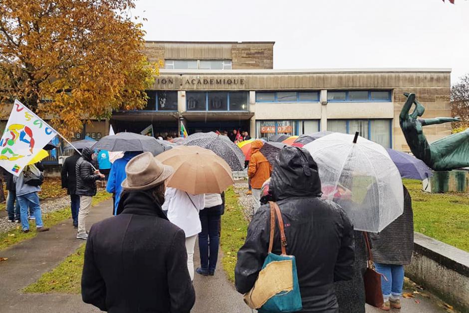 « Éducation nationale, c'est trop grave, c'est la grève ! » - Beauvais, 12 novembre 2018