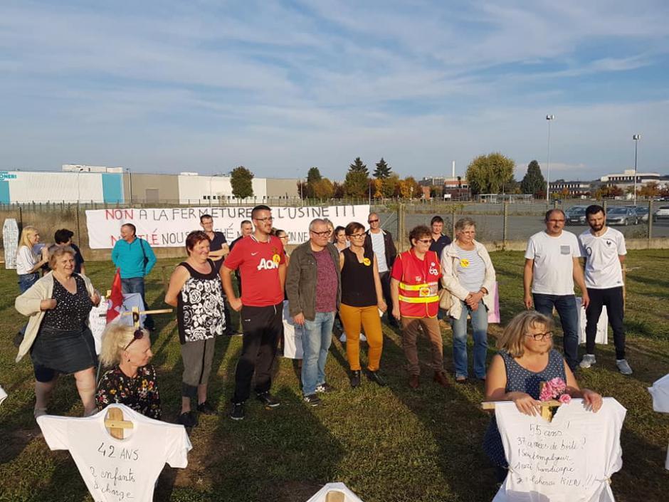 27 octobre, Beauvais - Rassemblement contre la fermeture de Froneri-Nestlé