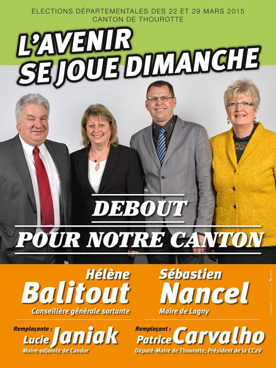 Se mobiliser pour Hélène Balitout et Sébastien Nancel dans le canton de Thourotte