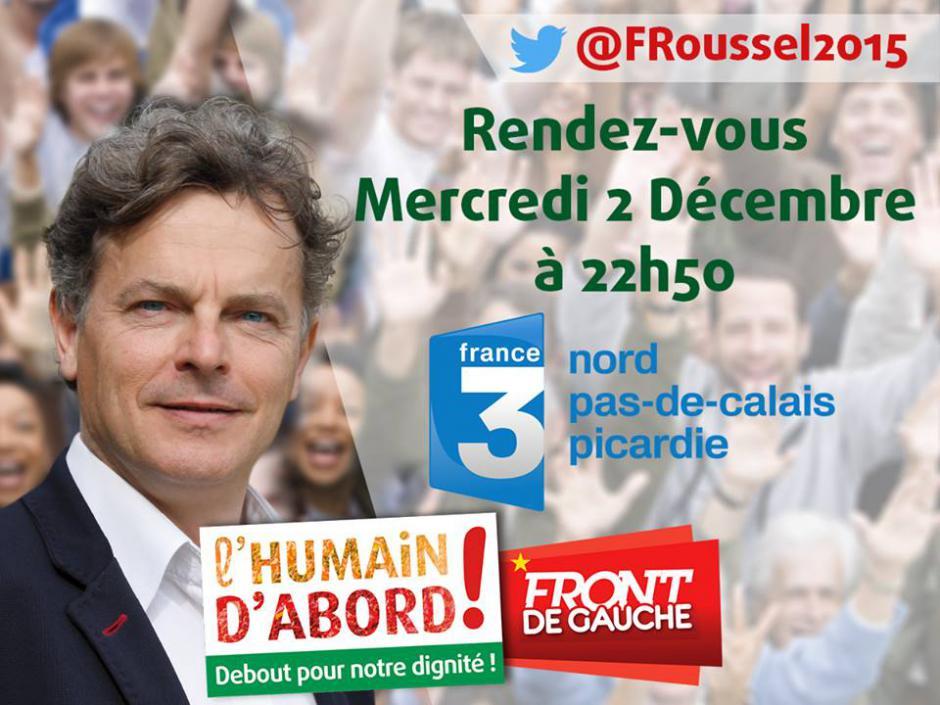 France 3 Picardie-Spéciale élections régionales 2015, avec Fabien Roussel [extraits] - 2 décembre 2015