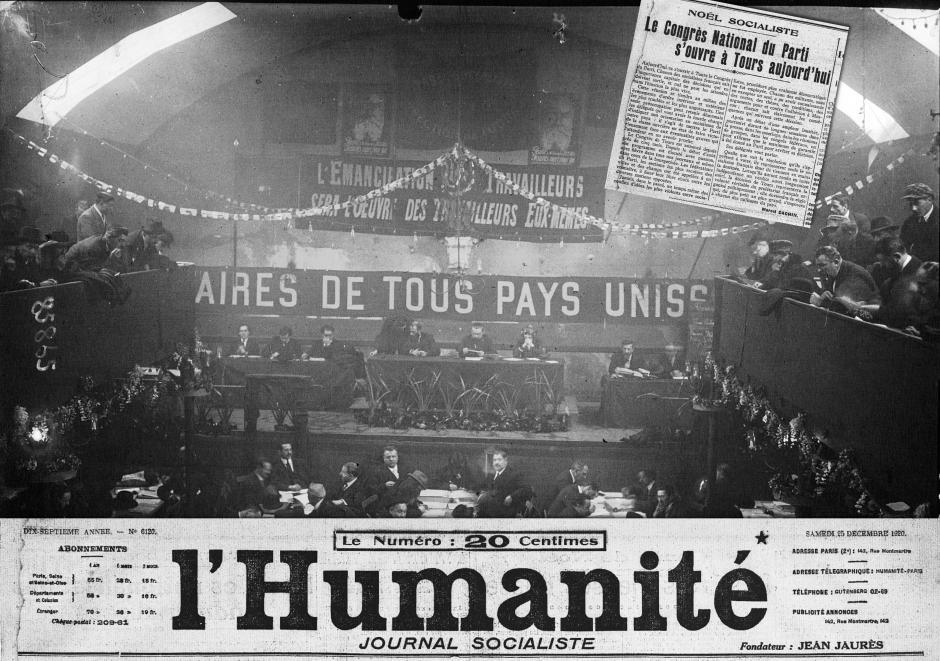 Avec L'Humanité, au jour le jour : il y a 100 ans, scission du socialisme et fondation du Parti communiste