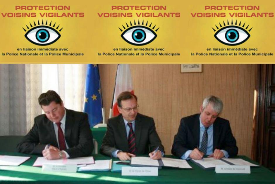 Opposition du Front de gauche au protocole « Voisins vigilants » - Agnetz et Clermont, 9 mars 2012
