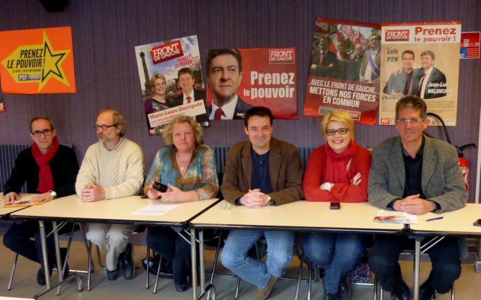 Législatives 2012, les candidats du Front de gauche dans l'Oise d'attaque ! - Creil, 9 avril 2012