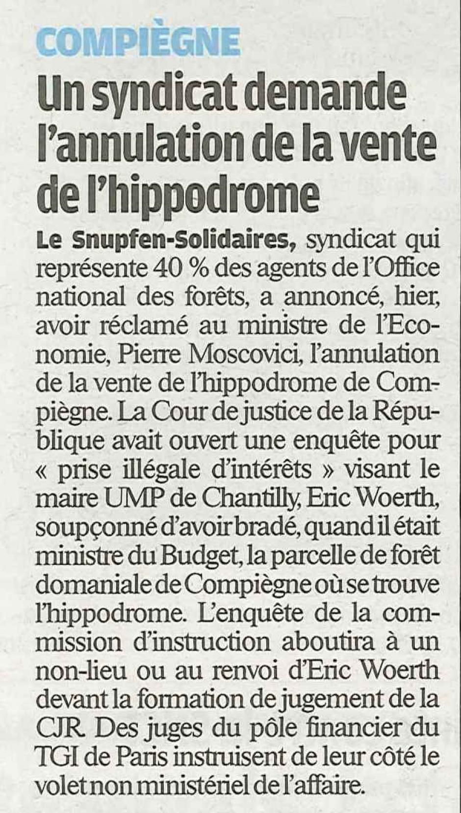 20120602-LeP-Compiègne-Le Snupfen-Solidaires demande l'annulation de la vente de l'hippodrome